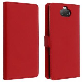 DZgogo Klappetui mit Kartenfach & Standfunktion Sony Xperia 10 Rot