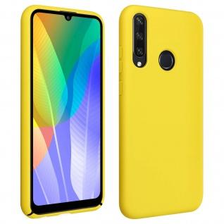 Halbsteife Silikon Handyhülle Huawei Y6p, Soft Touch - Gelb