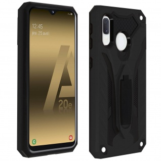Samsung Galaxy A20e Hybrid stoßfeste Schutzhülle mit Ständer - Schwarz
