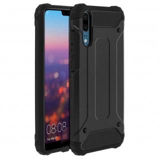 Defender II stoßfeste Schutzhülle für Huawei P20 - 1.8M Fallfest - Schwarz