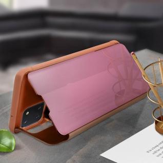 Mirror Klapphülle, Spiegelhülle für Samsung Galaxy Note 10 Lite - Rosegold - Vorschau 3