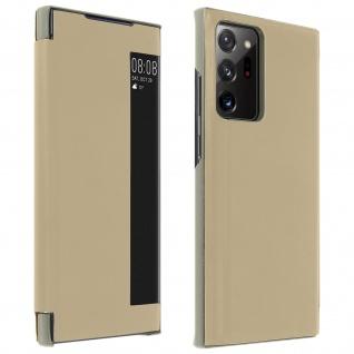Window View Klapphülle, Etui mit Sichtfenster für Galaxy Note 20 Ultra ? Gold