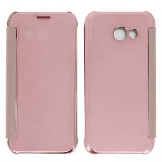 Rosafarbene Clear View Schutzhülle für Samsung Galaxy A3 2017