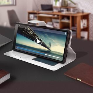 Flip Stand Cover Brieftasche & Standfunktion für Sony Xperia 10 - Weiß - Vorschau 4