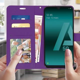 Flip Stand Cover Brieftasche & Standfunktion für Samsung Galaxy A50 - Violett - Vorschau 3
