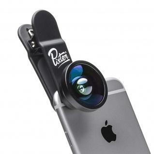 Pixter Kamera Objektiv Bildwinkel 180 °für Smartphones/Tablets - Schwarz