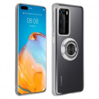 Schutzhülle mit Ring Halterung für Huawei P40 Pro ? Transparent