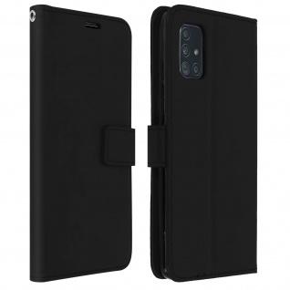 Flip Cover Stand Case Brieftasche & Standfunktion Samsung Galaxy A71 - Schwarz