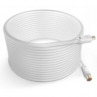 Antennenkabel männlich/weiblich, 9.5 mm, 10m by LinQ â€? Weiß