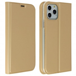 Flip Cover, Klappetui mit Kartenfach & Standfunktion Apple iPhone 11 Pro - Gold