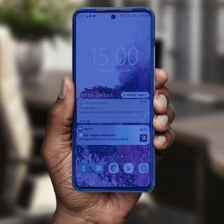 Mirror Klapphülle, Spiegelhülle für Samsung Galaxy A71 - Blau - Vorschau 4