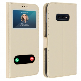 Samsung Galaxy S10e Flip Cover Doppelfenster & Standfunktion - Gold