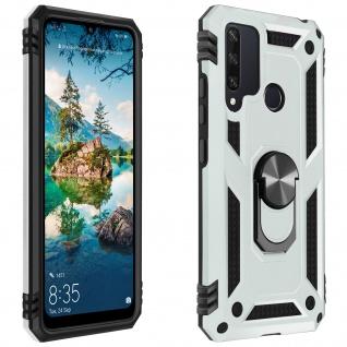 Hybrid Handyhülle mit Ring Halterung für Huawei Y6p ? Silber