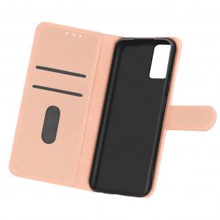 Flip Cover Geldbörse, Etui Kunstleder für Samsung Galaxy A32 5G ? Rosegold