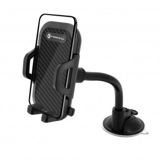 Forcell Smartphone Autohalterung 47 bis 95 mm, 360° Saugnapfhalterung - Schwarz