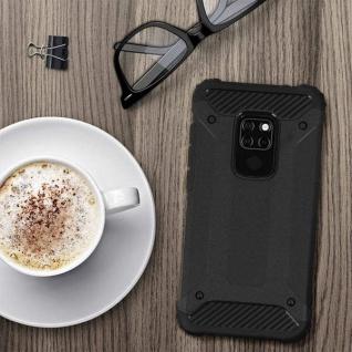 Defender II stoßfeste Schutzhülle - 1.8m Fallfest - Schwarze Hülle für Huawei Mate 20