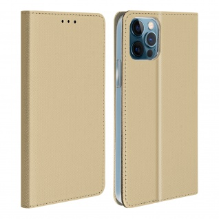 Apple iPhone 12 / 12 Pro Flip Cover mit Standfunktion � Gold