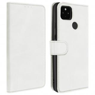 Flip Stand Case Brieftasche & Standfunktion für Google Pixel 4A 5G ? Weiß