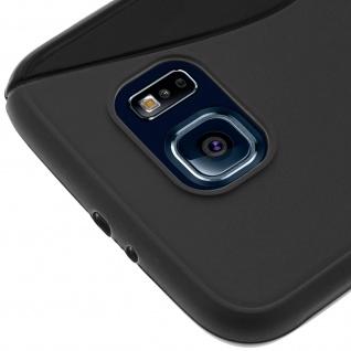 Samsung Galaxy S6 S-Line Schutzhülle aus Silikon - Schwarz - Vorschau 5