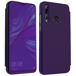 Huawei P Smart plus 2019 Flip Cover mit Spiegeleffekt & Standfunktion - Violett
