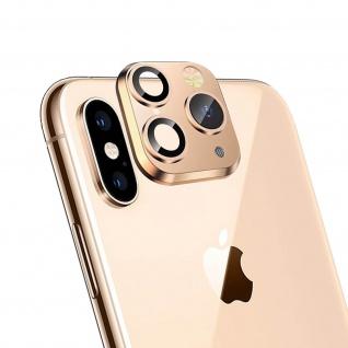 Apple iPhone 11 Pro goldener Fake Kamera Aufkleber für die Rückkamera aus Glas - Vorschau 2