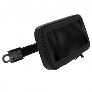 Motorrad / Fahrradhalterung Rückspiegel, wasserdichte Tasche für Handy - Schwarz