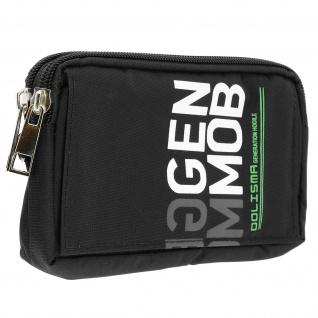 Universal Tasche Reißverschluss aus wasserfestem Nylon viele Fächer - Schwarz