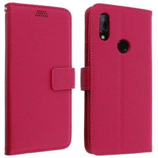 Xiaomi Redmi 7 Flip-Cover mit Kartenfächern & Standfunktion - Rosa