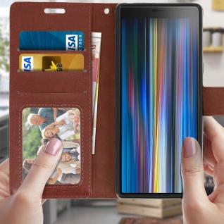 Flip Stand Cover Brieftasche & Standfunktion für Sony Xperia 10 - Braun - Vorschau 3