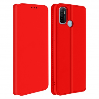 Kunstleder Cover Classic Edition für Oppo A53 , Oppo A53s ? Rot
