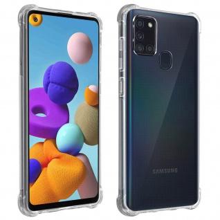 Akashi Samsung Galaxy A21s Silikon Bumper Hülle, stoßfest - Transparent