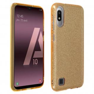 Schutzhülle, Glitter Case für Samsung Galaxy A10, shiny & girly Hülle - Gold