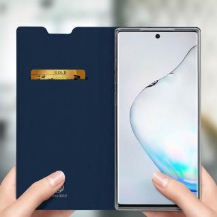 Flip Cover, Klappetui mit Kartenfach & Standfunktion Galaxy Note 10 Dunkelblau - Vorschau 4