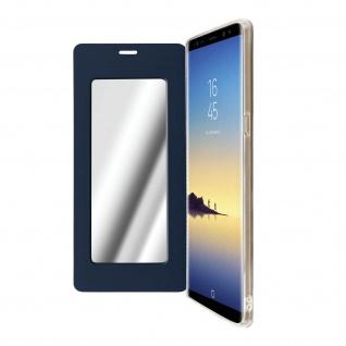 Spiegel Hülle, dünne Klapphülle für Samsung Galaxy Note 8 - Dunkelblau