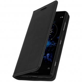 Sony Xperia XZ2 Flip-Cover aus Echtleder im Brieftaschenstil ? Schwarz
