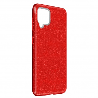 Schutzhülle, Glitter Case für Samsung Galaxy A42 5G, shiny & girly Hülle â€? Rot
