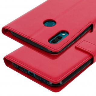 Flip Stand Cover Brieftasche & Standfunktion für Huawei Y9 2019 - Rot - Vorschau 5