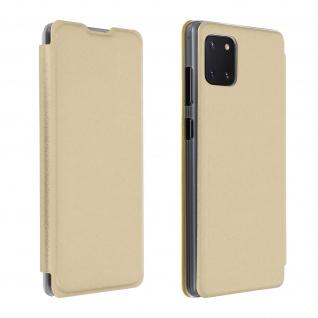 Flip Book Cover, Klappetui aus Kunstleder für Samsung Galaxy Note 10 Lite ? Gold