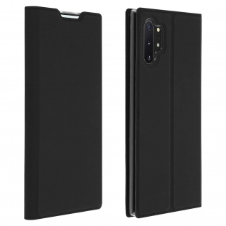 Flip Cover, Klappetui mit Kartenfach & Standfunktion Galaxy Note 10 Plus Schwarz