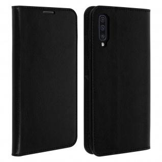 Business Leder Cover, Schutzhülle mit Geldbörse Samsung Galaxy A50 - Schwarz