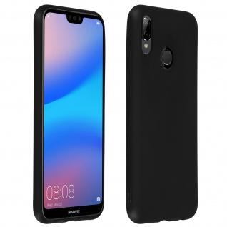 Schutzhülle aus Silikon für Huawei P20 Lite - Schwarz Matt