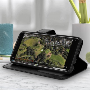 Flip Stand Cover Brieftasche & Standfunktion Huawei Mate 20 lite - Schwarz - Vorschau 4