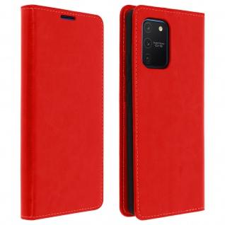 Business Leder Cover, Schutzhülle mit Geldbörse Samsung Galaxy S10 Lite - Rot