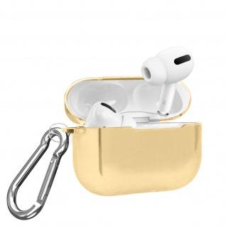 Apple Airpods Pro Metallic Schutzhülle + abnehmbarer Karabinerhaken - Gold