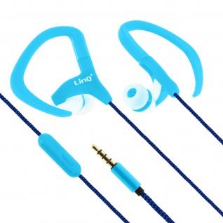 LinQ DS-2011 In-Ear Sport-Kopfhörer mit Ohrbügle Blau