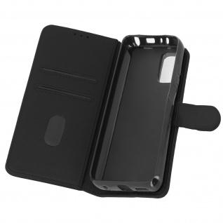 Flip Cover Geldbörse, Etui Kunstleder für Xiaomi Redmi Note 10 Pro ? Schwarz
