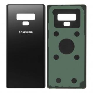 Ersatzteil Akkudeckel, neue Rückseite für Samsung Galaxy Note 9 - Schwarz