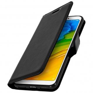 Flip Cover Stand Case Brieftasche & Standfunktion für Xiaomi Redmi 5 - Schwarz