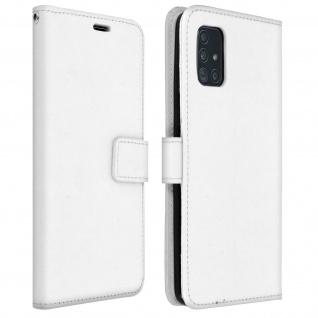 Flip Cover Stand Case Brieftasche & Standfunktion Samsung Galaxy A51 - Weiß