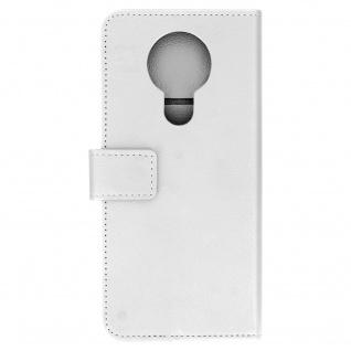 Nokia 3.4 Flip-Cover mit Kartenfächern & Standfunktion ? Weiß